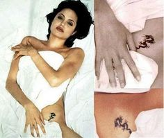 jolie tattoo woman Angelina