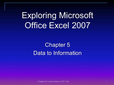 modeling business analysis Microsoft excel data and
