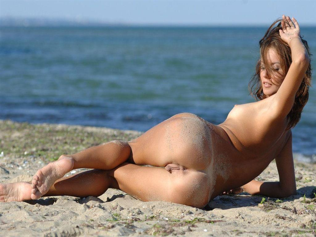 Ass on beach naked