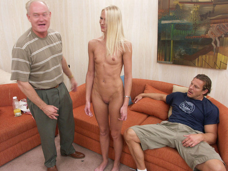 Naked ladies giving hand job