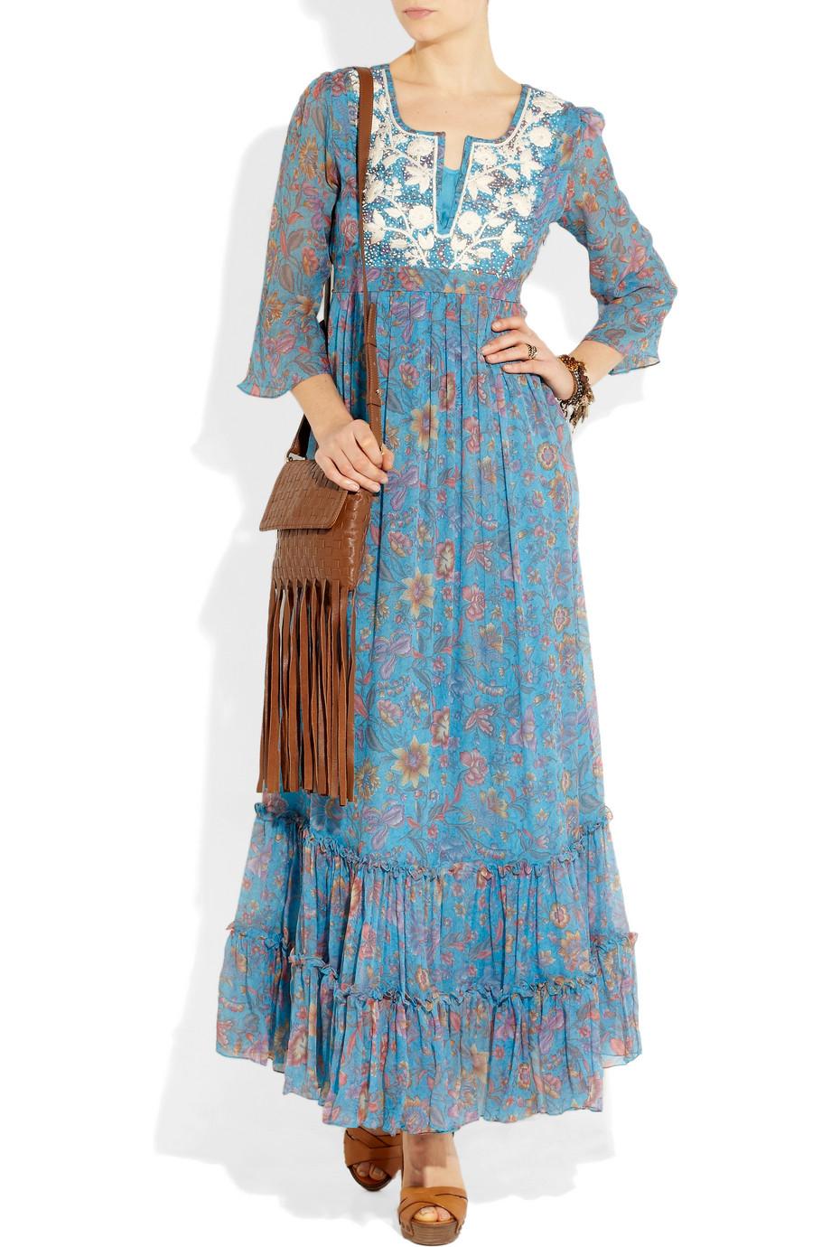 chiffon Floral dress silk