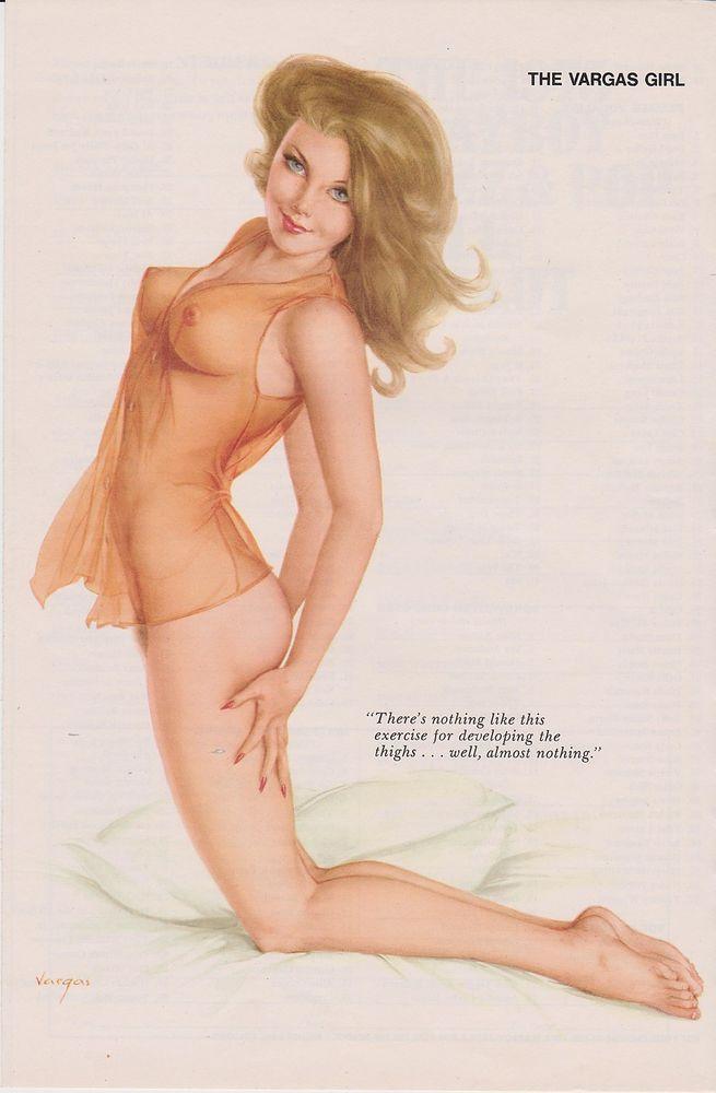 pin nude up girls vargas Vintage