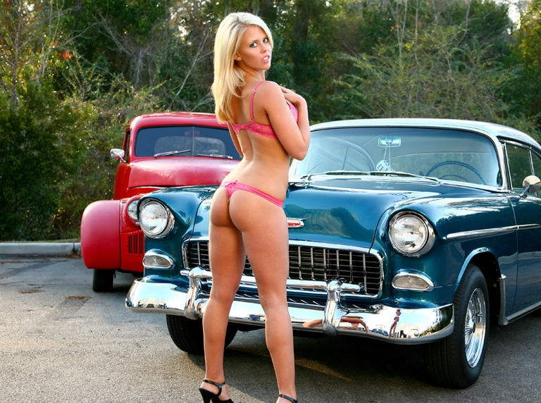 and Hot girls cars custom