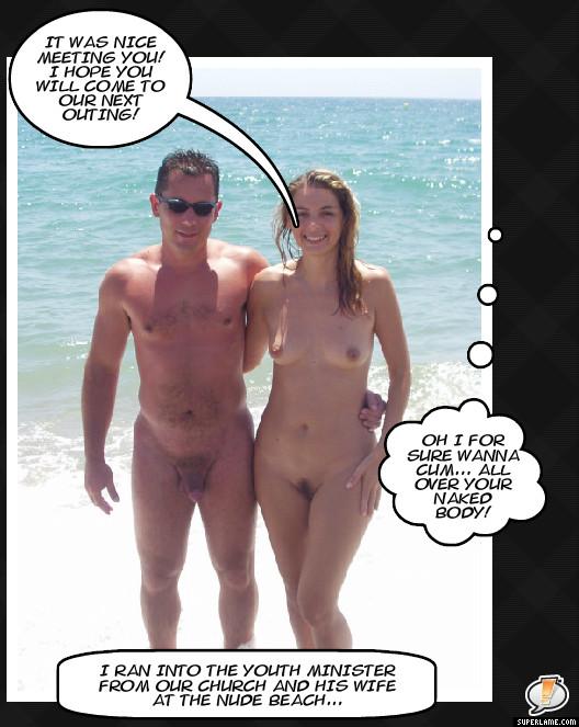 captions girls Nudist beach