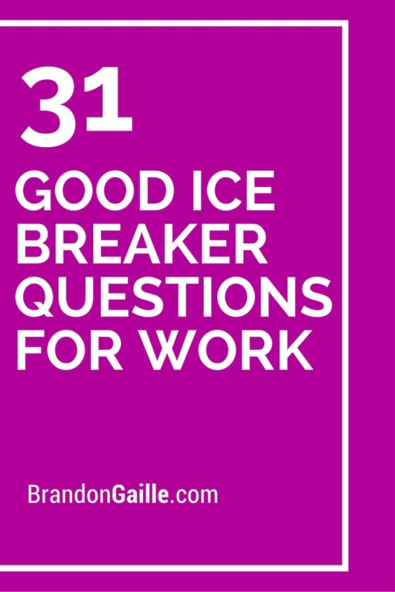 adult Ice breakers for
