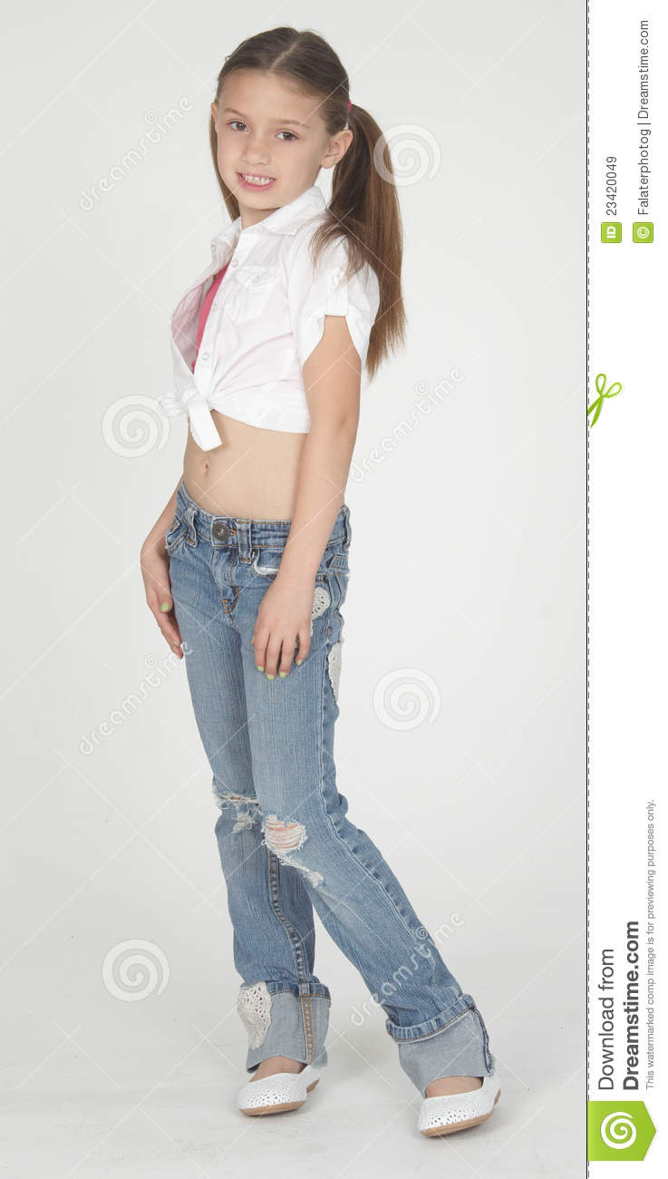 jeans girl Young teen model