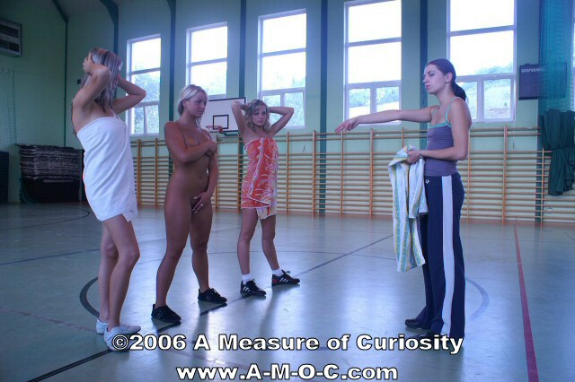 Women gym embarrassed naked