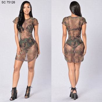 see dress Woman through
