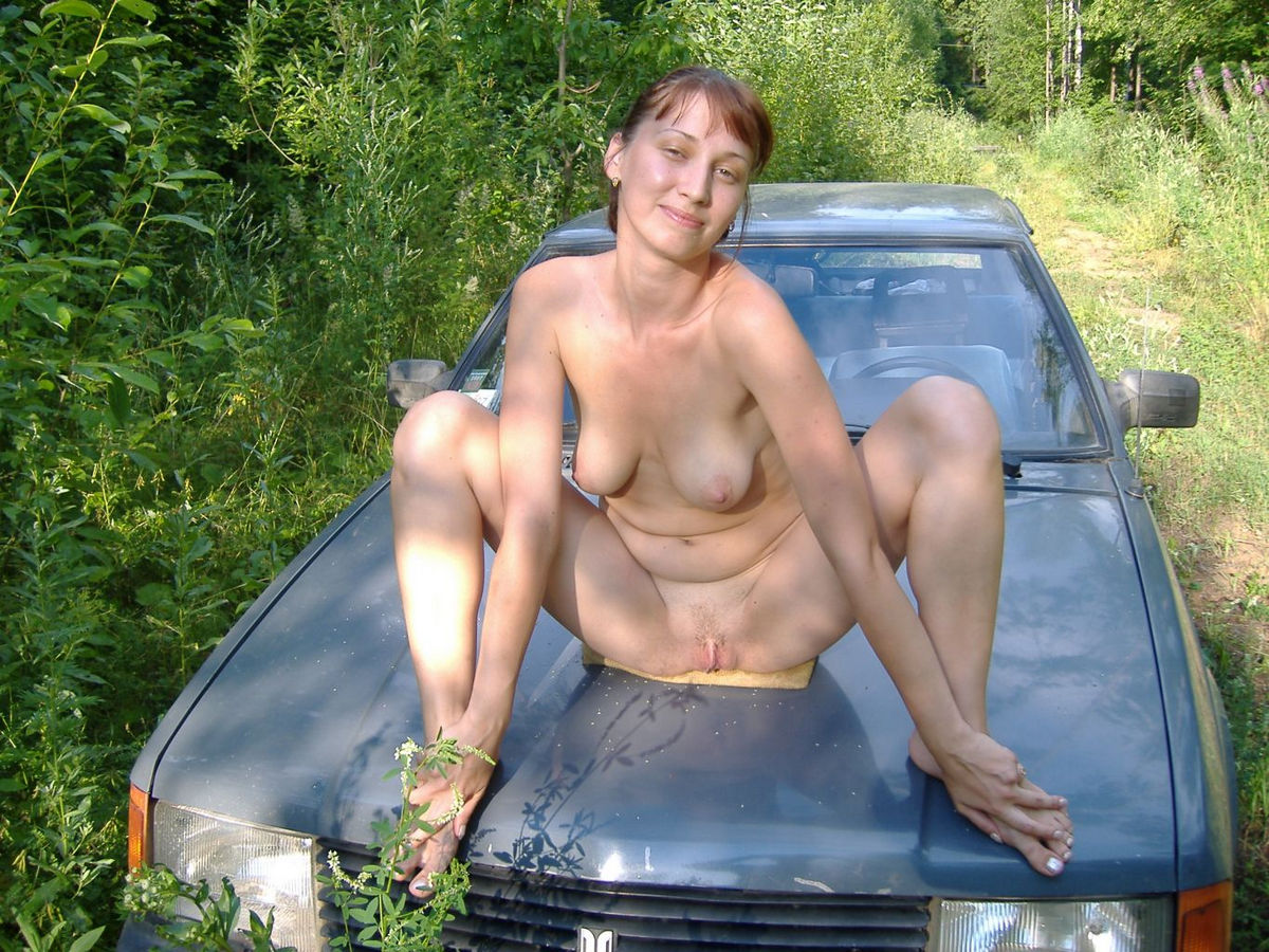 nude Russian outdoors mature