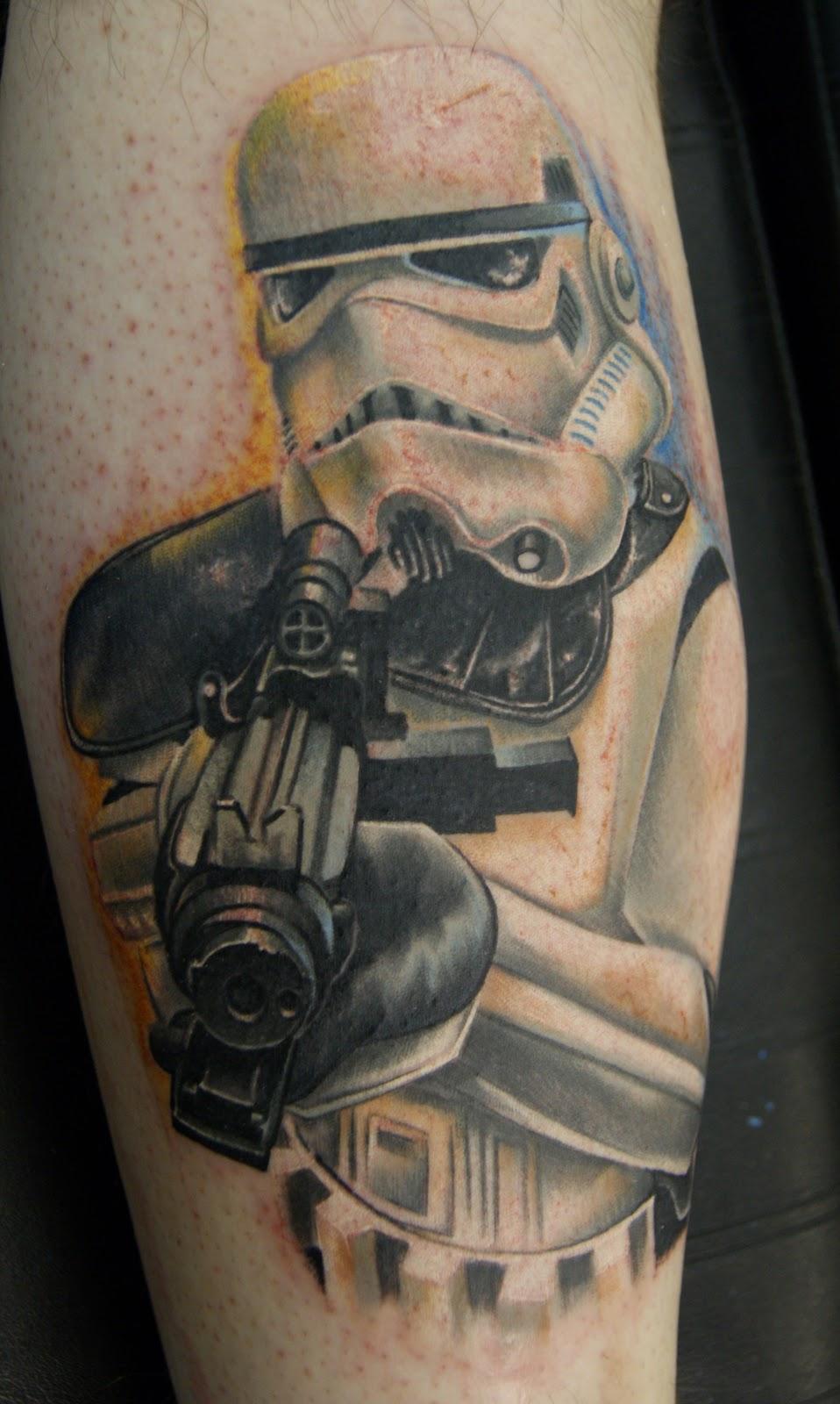 wars tattoo Star stormtrooper