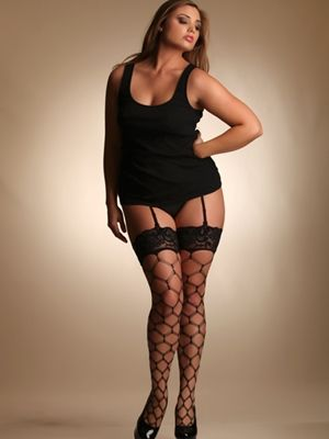 garter Wide hips stockings and
