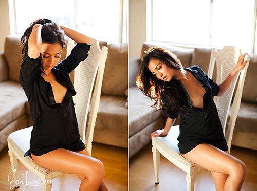 chair Sexy boudoir poses