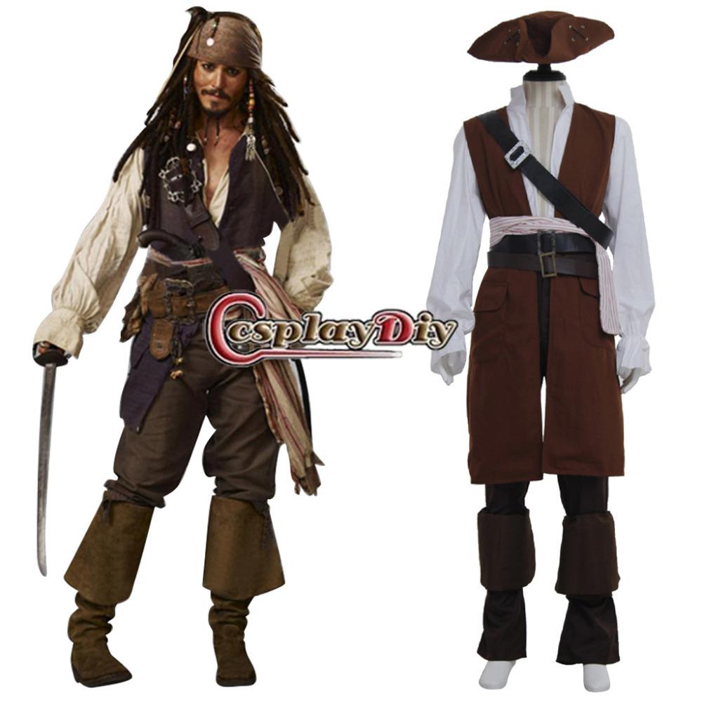 sparrow Captain costume mens jack adult