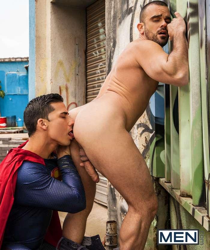 xxx gay cock Cartoon superman