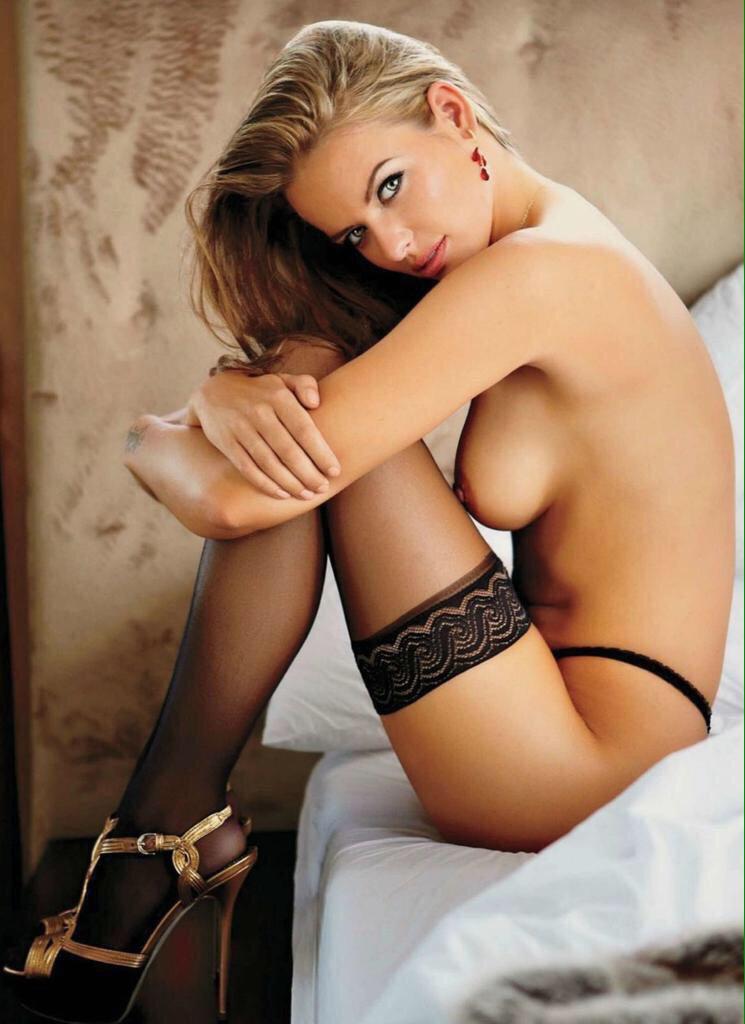 lingerie blonde stocking