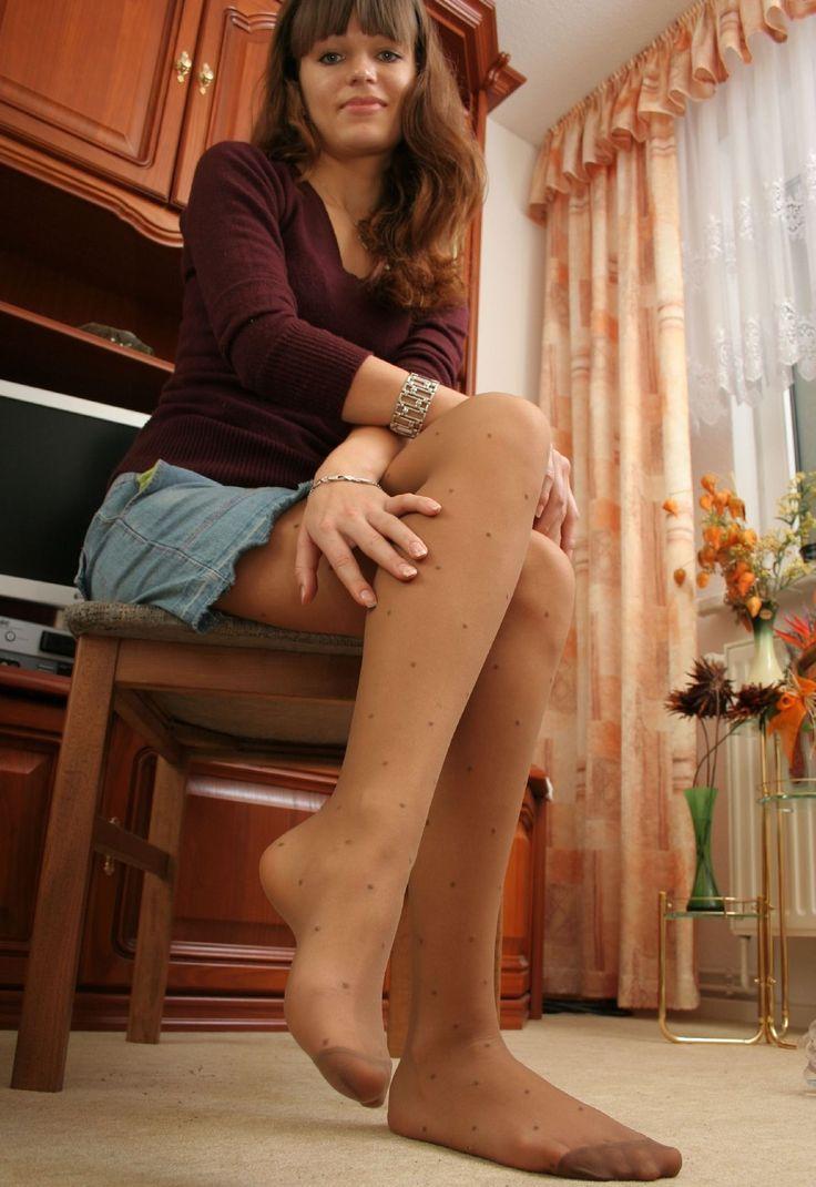 heels Pantyhose tan