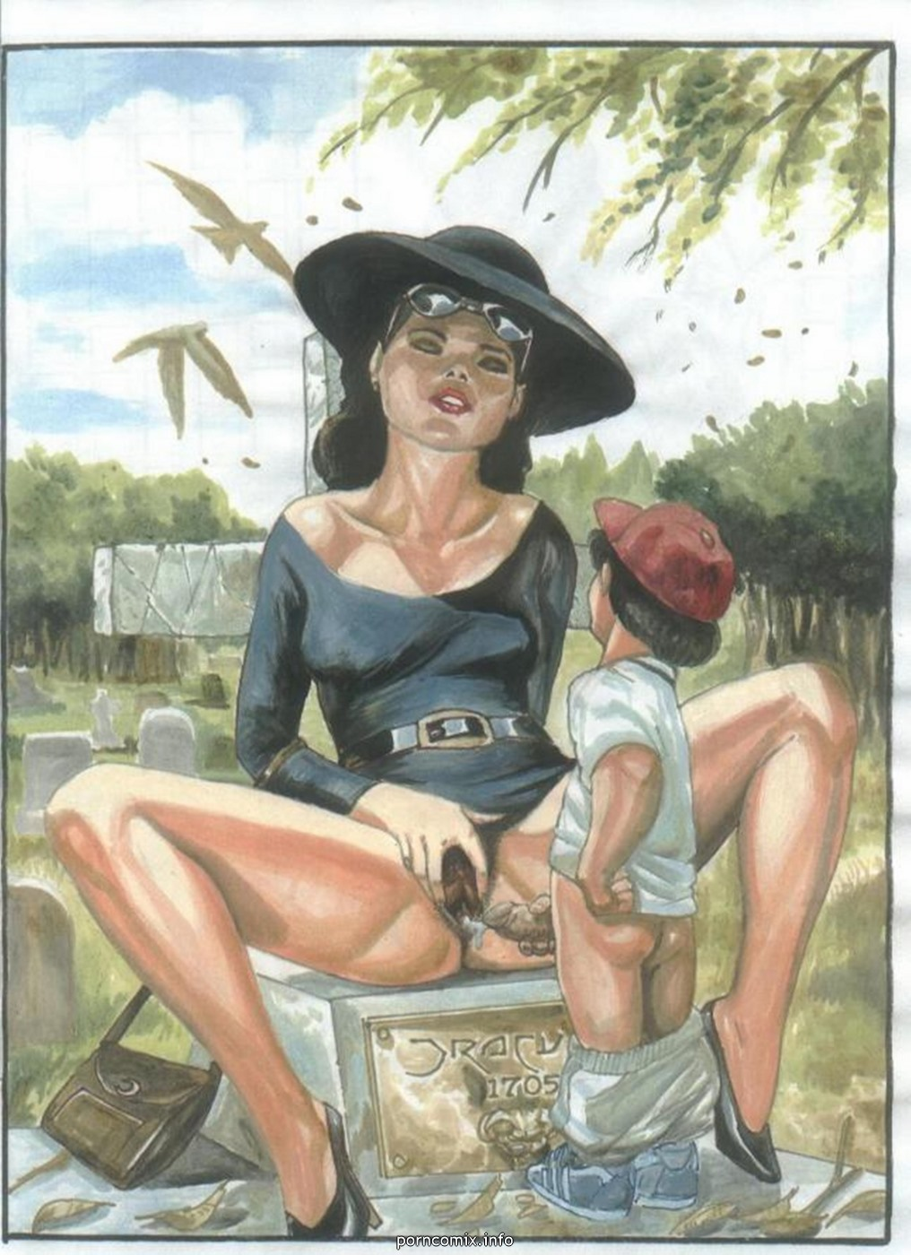 son xxx classic paintings mom