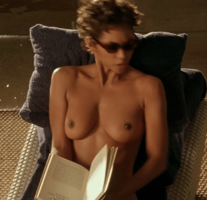 berry totally naked Halle
