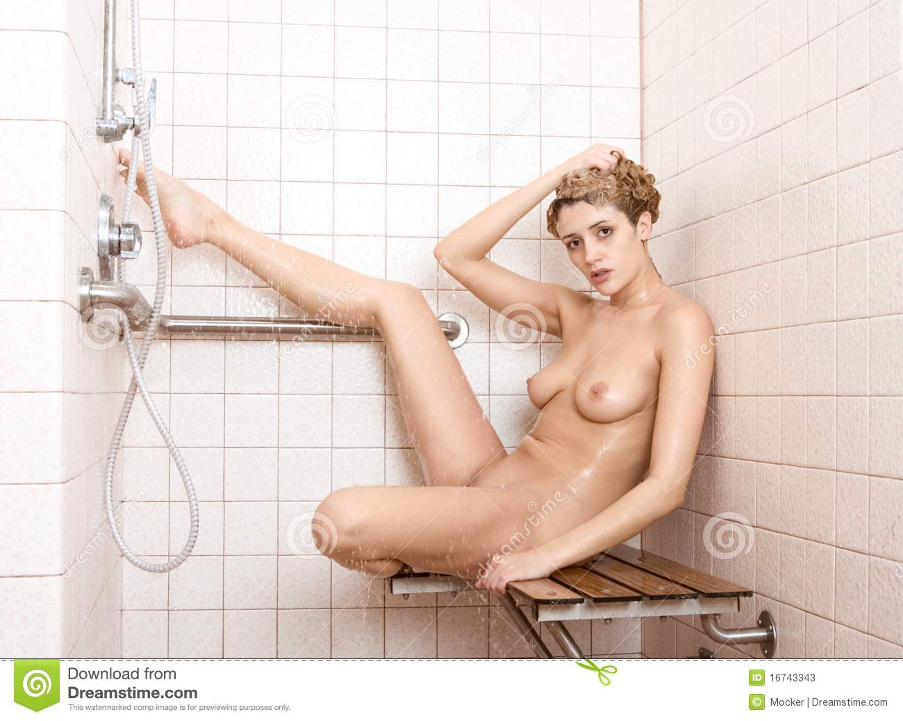 naked Woman in shower