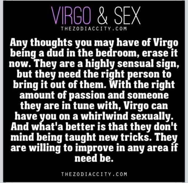 sex signs Virgo