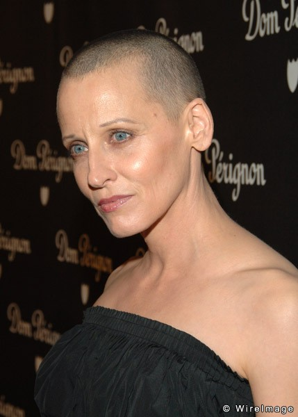 shaved bald Actress