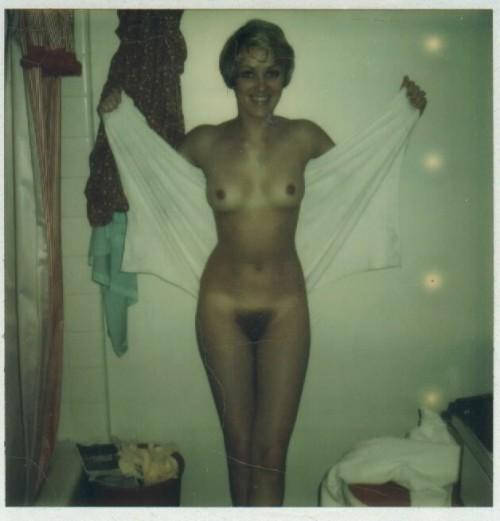 Vintage polaroid nude wife hairy pussy