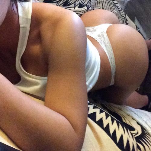 girl ass selfie White in thong