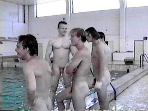 boys swimming swim naked College team