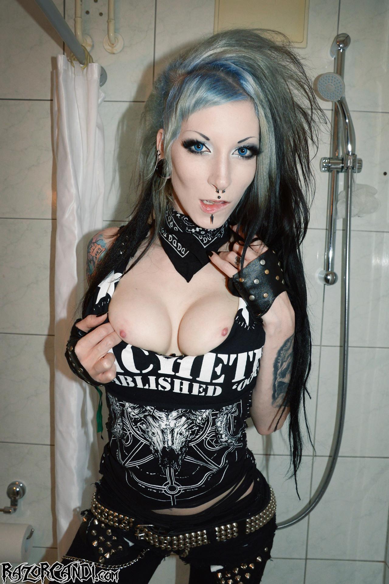 porn Sexy goth punk