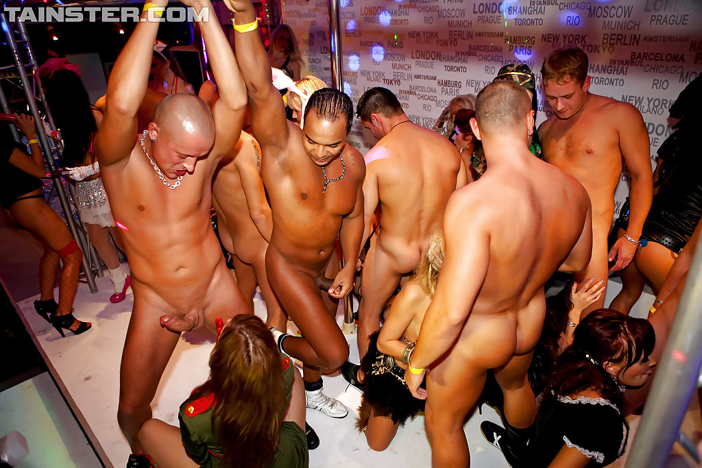 Black strippers hung
