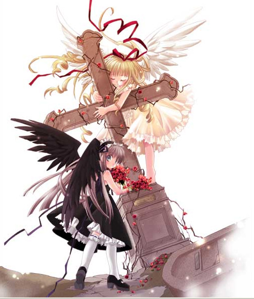 anime girl angel Fallen