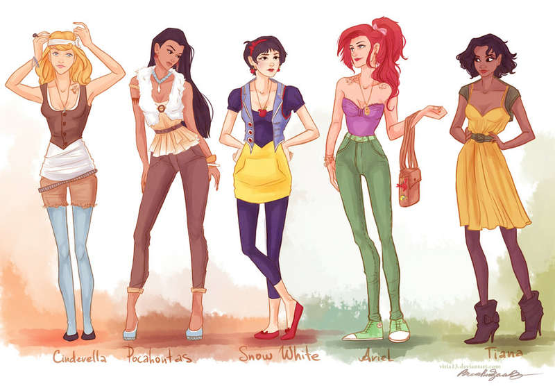 princess hipsters Disney