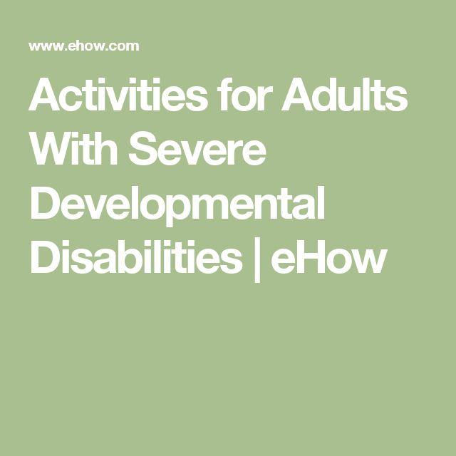learning developmentally Activity adult disabled