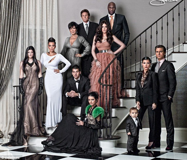 christmas card 2010 Kardashian family