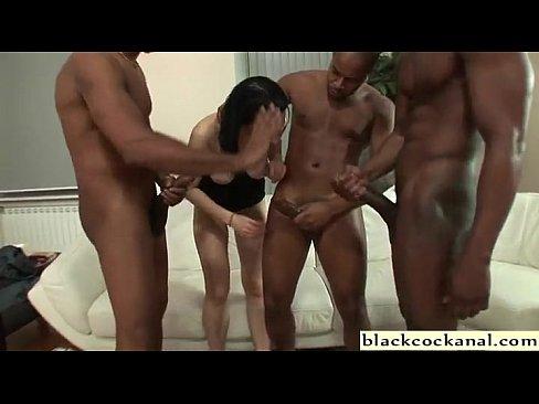 slut gangbang black Big cock