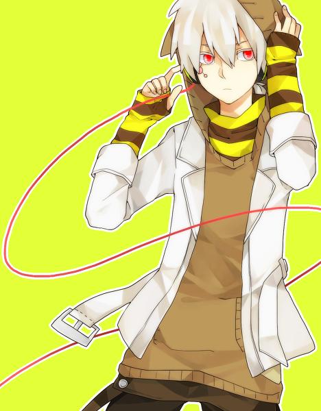 with Anime white hair guy