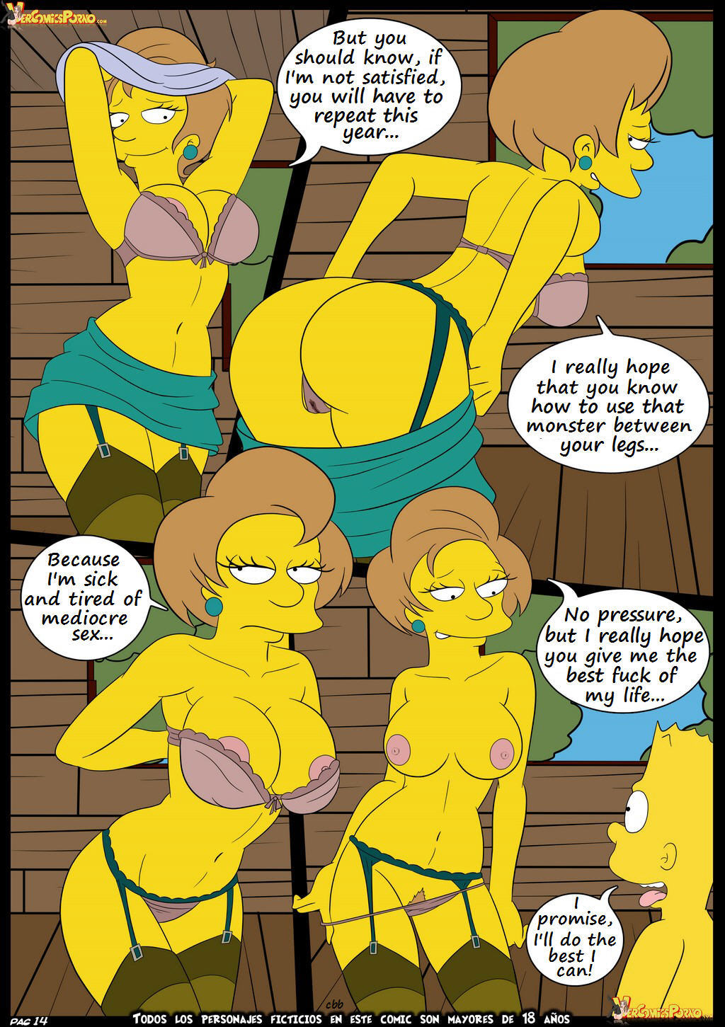 comics Simpsons cartoon porn