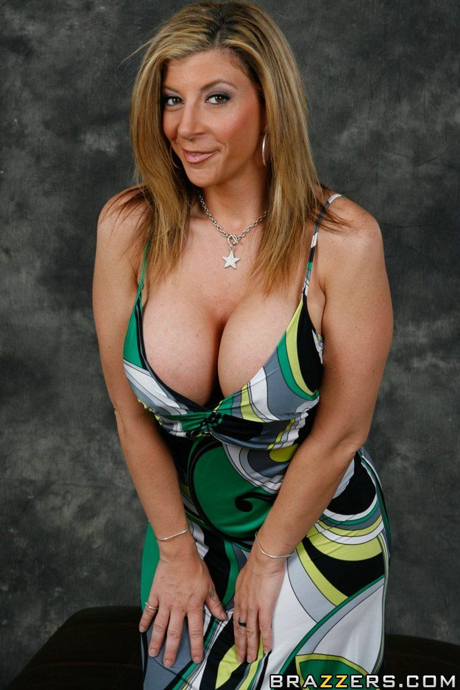 milf cleavage Hot sundress