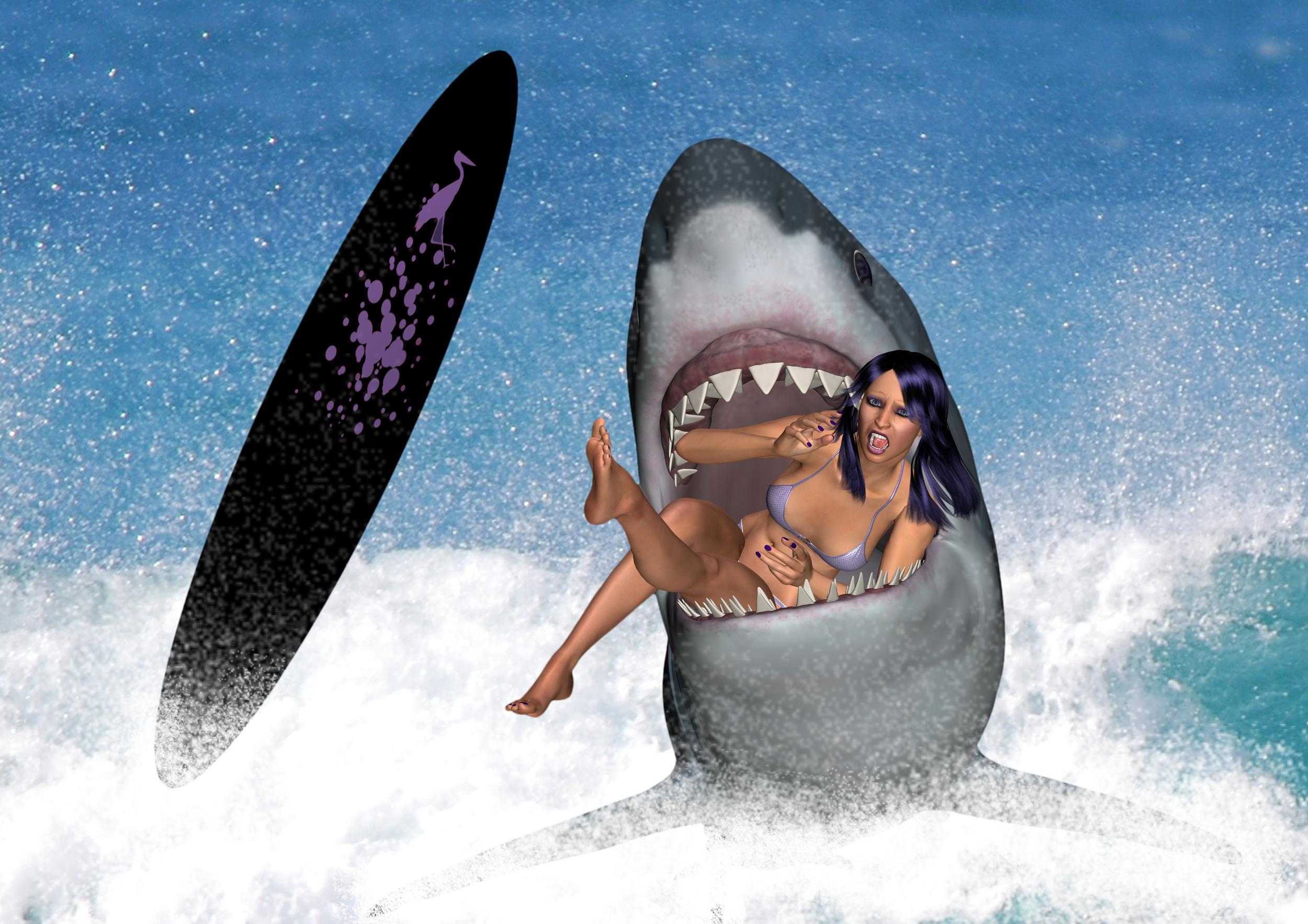 naked shark sexy