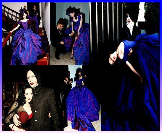 dress Dita von teese wedding