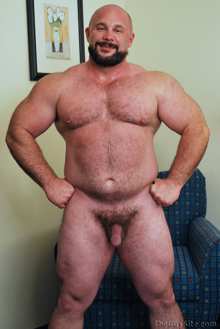 naked muscle mature men