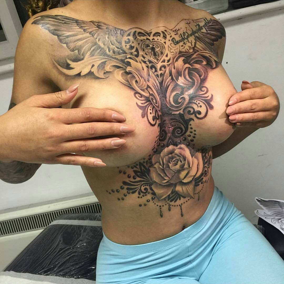 tattoo designs breast Women