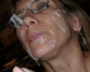 cumshots Messy mature facial