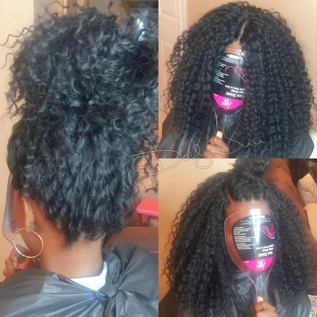 hair with Crochet braids natural