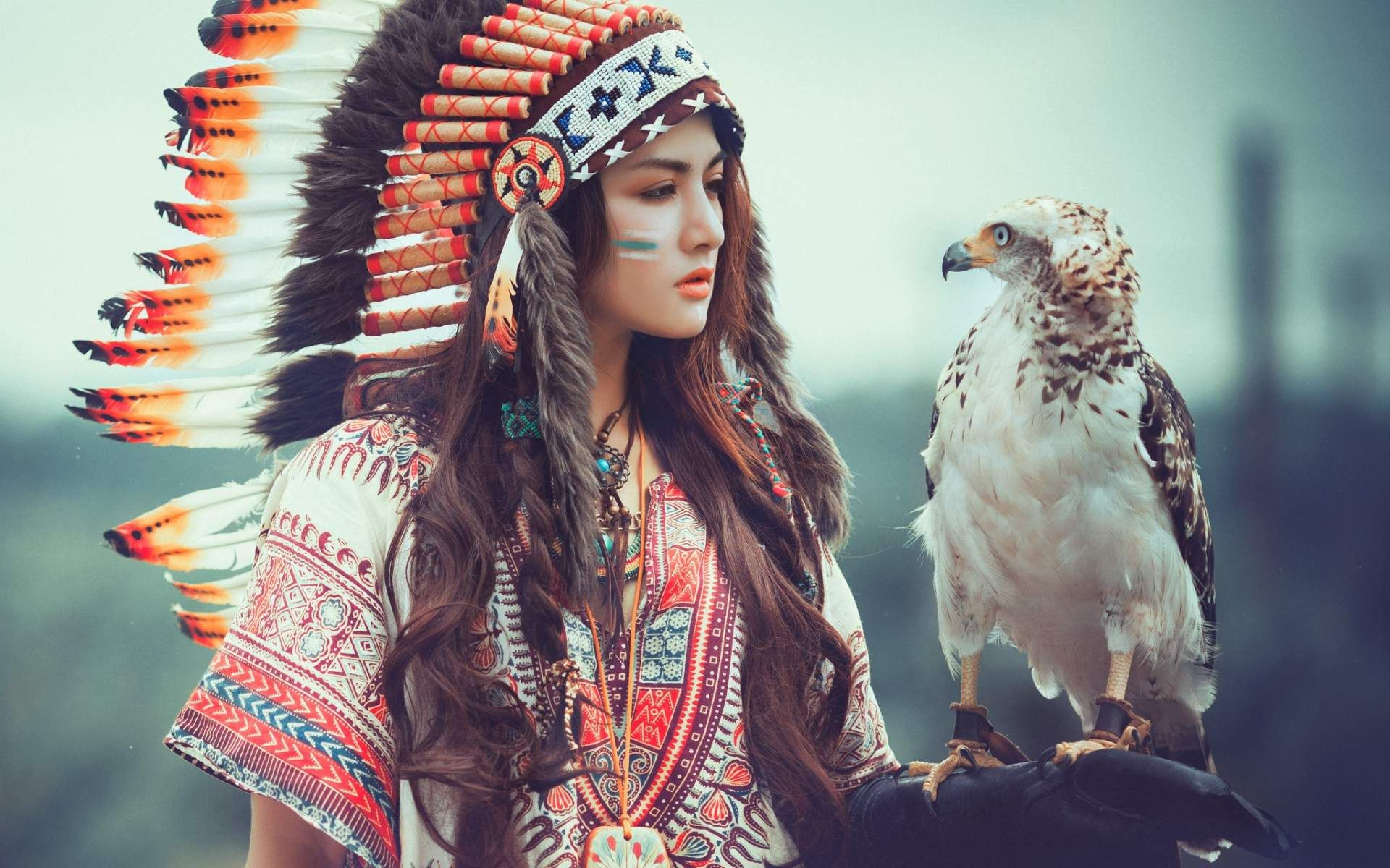 indian Native girl models american