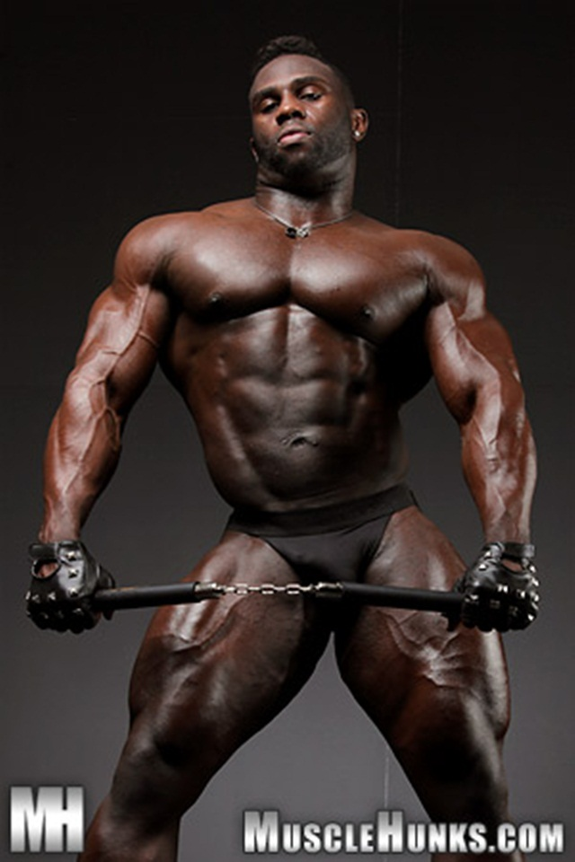 bodybuilders Big black muscle