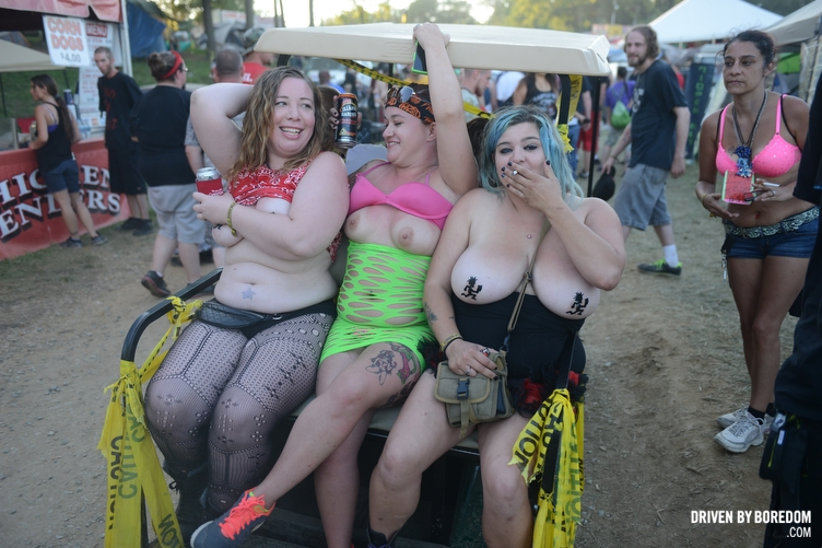 juggalos the Nude of at gathering juggalettes