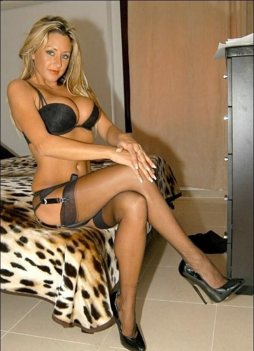 stockings Amateur bbc milf